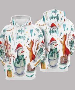 Christmas Multicolor Popular Unisex 3D Hoodie