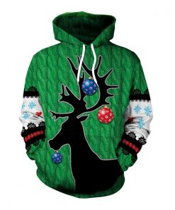 Christmas Style Christmas Deer 3D Hoodie