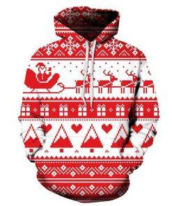 Christmas White 3D  Hoodie