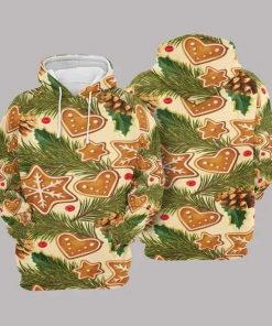 Christmas Yellow And Green Awesome Unisex 3D Hoodie