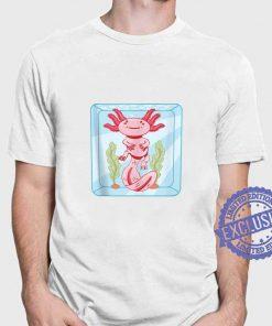 Cute Axolotl Kawaii Animals Fish Amphibians T-Shirt