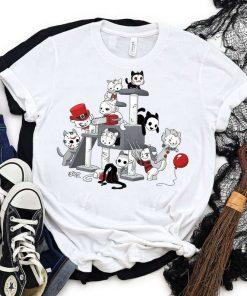 Halloween Cat Horror Movies Cat Funny Halloween T-Shirt