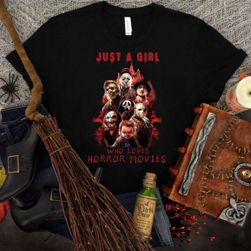 Halloween Horror Movie Killers, Just a Girl Who Loves T-Shirt