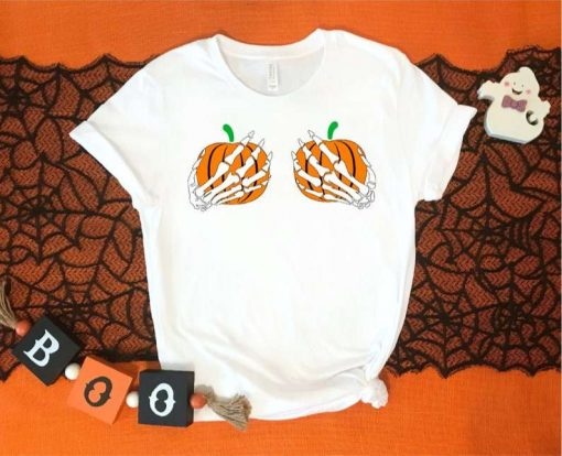 Halloween Skeleton Hand T-Shirt