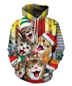 Novelty Pullover Xmas 3D Hoodie