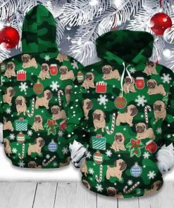 Pug Christmas Best Unisex 3D Hoodie