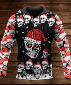Rhinestone Skull Christmas 3D Hoodie