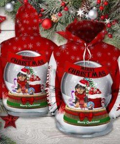 Rottweiler Christmas Cute Unisex 3D Hoodie