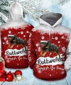 Rottweiler Christmas Funny 3D Hoodie