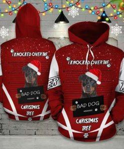 Rottweiler Christmas Funny Unisex 3D Hoodie