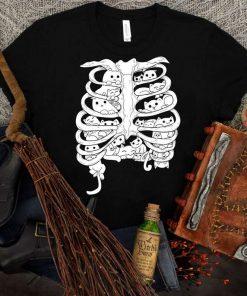 Skeleton Cat Funny Halloween T-Shirt