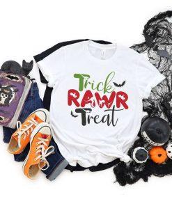 Trick RAWR Treat Halloween T-Shirt