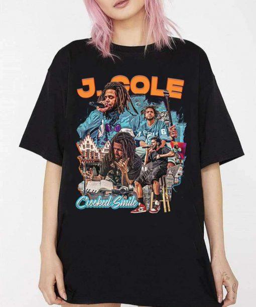 Vintage J Cole Rapper Crooked Smile T-Shirt