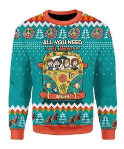 All You Need Is Love Ugly Christmas Sweater