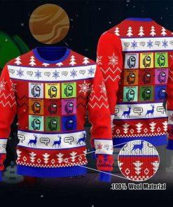 Among Us Crewmates And Impostor Adult Unisex Game Ugly Christmas Sweater
