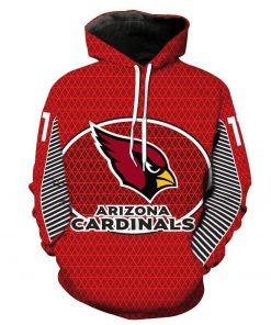 Arizona Cardinals 3D Pullover NFL Footballs 3D Hoodie