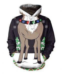 Christmas Deer Feet 3D Hoodie