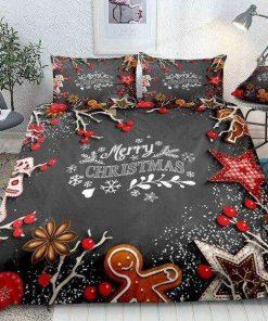 Christmas Snowflakes Stars Bedding Set