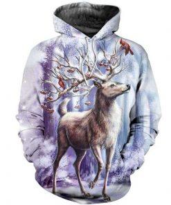 Deer Christmas 3D All Over Printed Hoodie