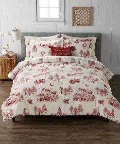 Holiday Heavyweight Flannel  Bedding Set