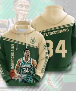 Milwaukee Bucks No1191 3D Hoodie