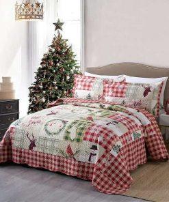 Rustic Patchwork Christmas Bedding Set