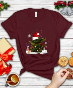 Santa Baby Yoda Christmas Light T-Shirt