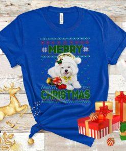 Santa Hat Merry Christmas Funny Dog Xmas T-Shirt
