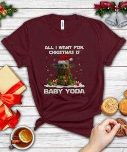 Santa Yoda All I Want For Christmas Is A Baby Yoda T-Shirt
