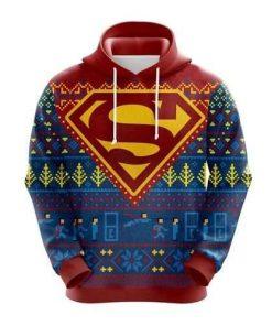 Superman Christmas Cute Noel Mc 3D Hoodie