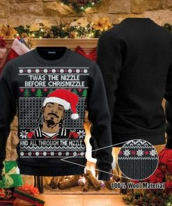 Twas The Nizzle Before Christmizzle Snoop Dogg Ugly Christmas Sweater